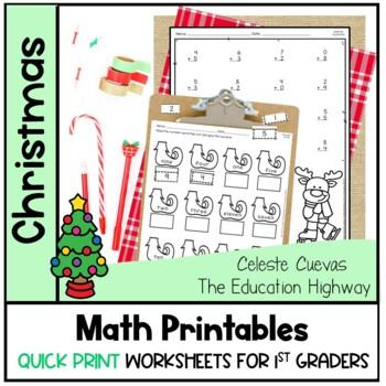 Christmas Math Printables   Quick Print Now
