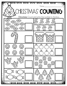 Christmas Math Worksheets by KinderMyWay   Teachers Pay ...