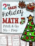 Christmas Math Printables - Second Grade