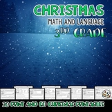 Christmas Math and Language Printables Third Grade