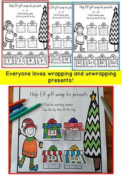Christmas Math Printables with Elf