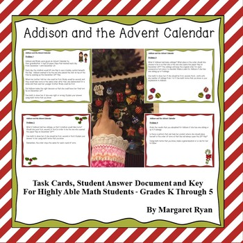 Addison and the Advent Calendar~Christmas Math - Problem Solving