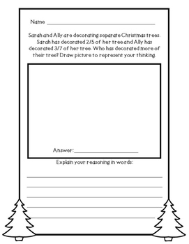 Christmas Math Problem Solving Activities