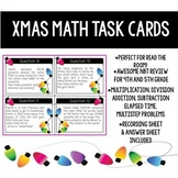 Christmas Task Cards- Multiplication, Addition, Subtraction