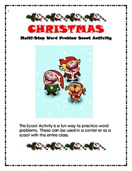 Christmas Math Problem Solving Scoot Activity