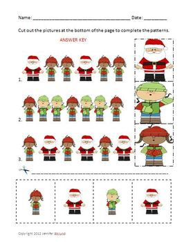 Christmas Math: Problem Solving and Patterns