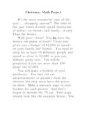 Christmas Math Project