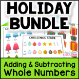 Christmas Math Project BUNDLE: Adding Whole Numbers