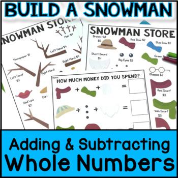 Christmas Math Project BUNDLE: Adding Whole Numbers