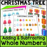 Christmas Math - Build a Christmas Tree: Adding Whole Numbers