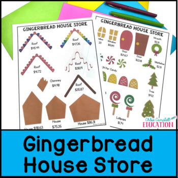 Christmas Math Project: Build a Gingerbread House, Adding Decimals