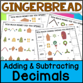 Christmas Math - Build a Gingerbread House: Adding Decimals