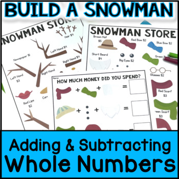 Christmas Math - Build a Snowman: Adding Whole Numbers