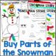 Christmas Math - Build a Snowman: Adding Decimals