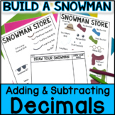 Christmas Math - Build a Snowman: Adding Decimals