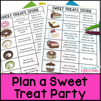 Christmas Math Project: Holiday Party with Sweets, Adding Decimals