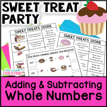 Christmas Math - Plan a Holiday Party: Adding Whole Numbers