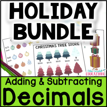 Christmas Math Project Bundle: Gingerbread House, Christma