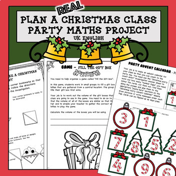 Christmas Maths Project Plan a Party AUS UK