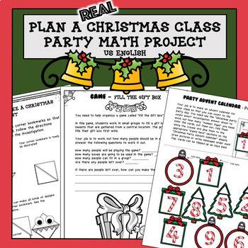 Christmas Math Project Plan a Party PBL US