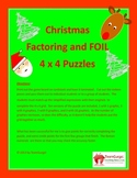 Christmas Math Puzzle - Factoring and FOIL Method