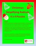 Christmas Math Puzzle - Simplifying Radicals
