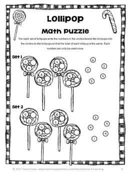 Christmas Free: Christmas Math Puzzles by Games 4 Learning | TpT
