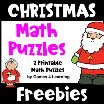 image about Free Printable Christmas Puzzles titled No cost Xmas Math Worksheet Puzzles