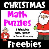 Free Christmas Math Worksheet Puzzles