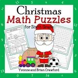 Christmas Math Puzzles - 6th Grade Common Core