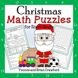 Christmas Math Puzzles - 6th Grade Common Core Distance Learning