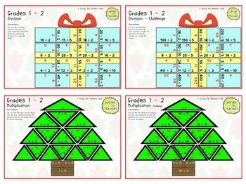 Christmas Math Puzzles: Grades 1 - 2