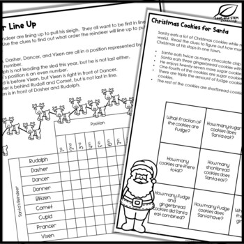 Christmas Math Puzzles for Middle School