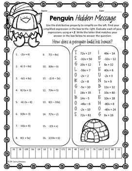 penguin hidden message math worksheet answers penguin best free printable worksheets. Black Bedroom Furniture Sets. Home Design Ideas