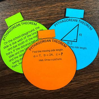 Christmas Math Pythagorean Theorem 3D Ornaments