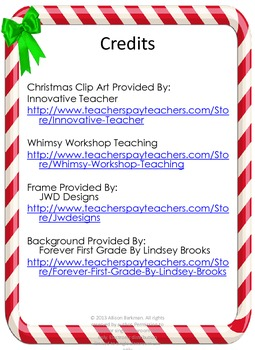 Christmas Math Multiplication QR Fact 11's
