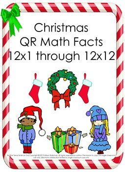 Christmas Math Multiplication QR Fact 12's