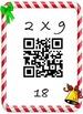 Christmas Math Multiplication QR Fact 2's