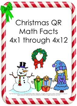 Christmas Math Multiplication QR Fact 4's