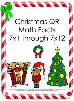 Christmas Math Multiplication QR Fact 7's