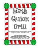 Christmas Math Quick Drill