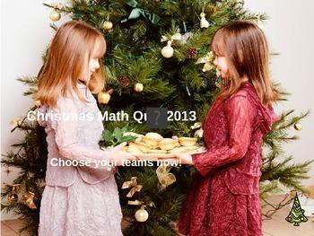 CHRISTMAS MATH POWERPOINT QUIZ