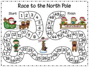 Christmas Math - Race to the North Pole