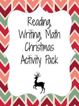 Christmas Math, Reading, Writing Activity Pack