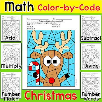 Christmas Math Differentiated Math Center: Addition, Subtraction ...