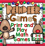 3rd Grade Christmas Math Games: Reindeer Games 3rd Grade Math Activities