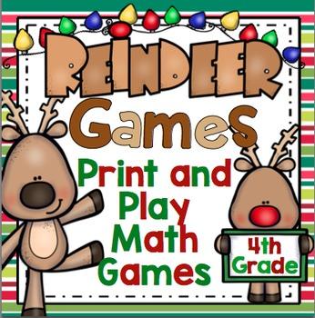 4th Grade Christmas Math Games: Reindeer Games - 4th Grade Christmas Activities