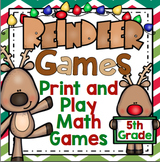 5th Grade Christmas Math Games: Reindeer Games - 5th Grade Christmas Activities