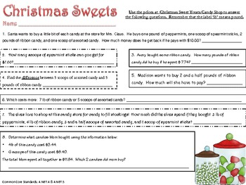 Christmas Math Review Activities