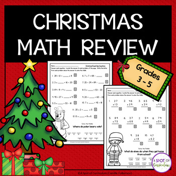 Christmas Math Review Packet